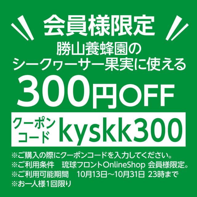 クーポンコードkyskk300